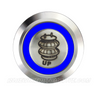 SILVER SERIES BILLET BUTTON-19mm-AIR BAG (UP)