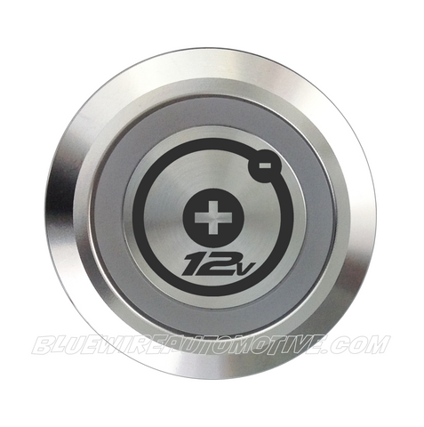 SILVER SERIES BILLET BUTTON-22mm-POWER 12V
