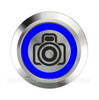 SILVER SERIES BILLET BUTTON-22mm-CAMERA