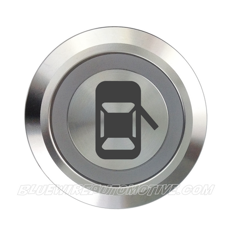 SILVER SERIES BILLET BUTTON-19mm-DOOR POPPER RIGHT