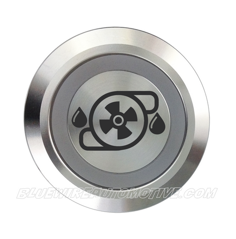 SILVER SERIES DUAL COLOUR BILLET BUTTON-22mm-WATER PUMP or STEERING PUMP