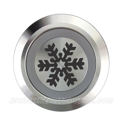 SILVER SERIES DUAL COLOUR BILLET BUTTON-22mm-AIR CON