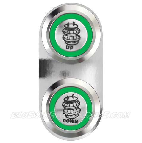 BILLET POWER AIRBAG SWITCH-SINGLE-GREEN
