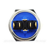 SILVER SERIES DUAL COLOUR BILLET BUTTON-22mm-HORN