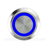 SILVER SERIES BILLET BUTTON-LATCHING/MOMENTARY-19mm-BLANK