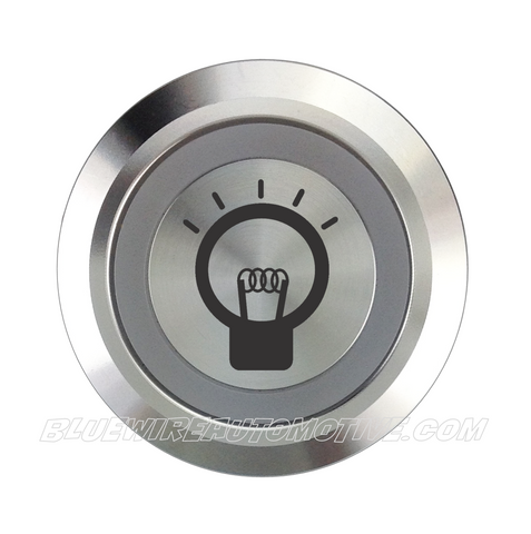 SILVER SERIES DUAL COLOUR BILLET BUTTON-22mm-DOME LIGHT