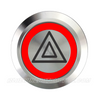 SILVER SERIES DUAL COLOUR BILLET BUTTON-22mm-HAZARD