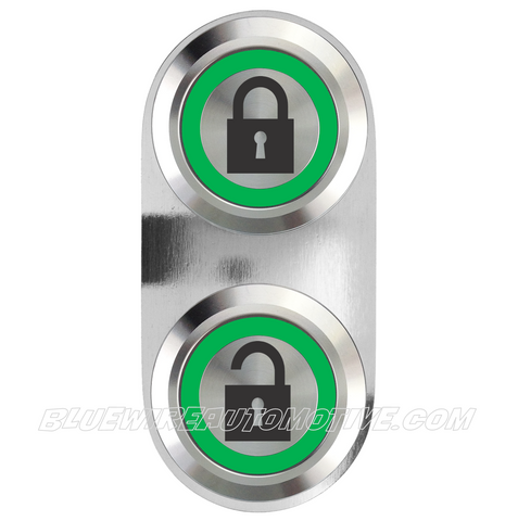 BILLET CENTRAL LOCKING SWITCH-SINGLE-GREEN