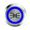 SILVER SERIES DUAL COLOUR BILLET BUTTON-22mm-PARK LIGHT