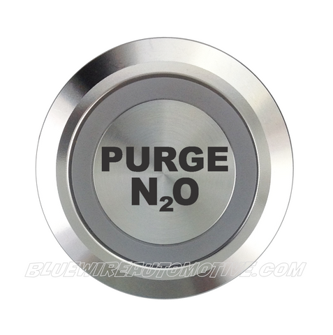 SILVER SERIES DUAL COLOUR BILLET BUTTON-22mm-PURGE N2O