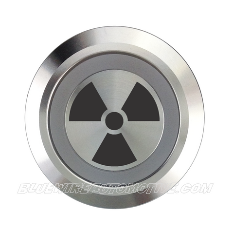 SILVER SERIES DUAL COLOUR BILLET BUTTON-22mm-RADIO ACTIVE
