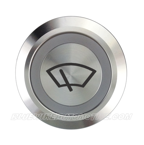 SILVER SERIES DUAL COLOUR BILLET BUTTON-22mm-WINDOW WIPER