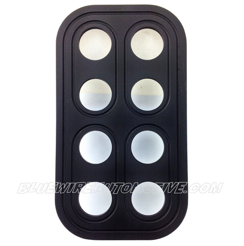 BS DELUXE BILLET BUTTON PANEL-8 HOLE-19mm