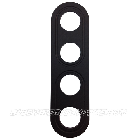 BS BILLET BUTTON PANEL-4 HOLE-19mm