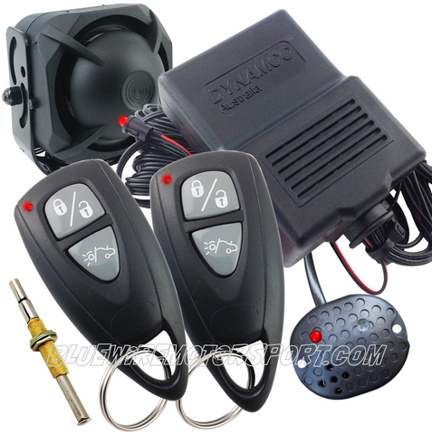 TURBO ASSISTANCE BLACK WIRED CAR ALARM + BATTERY BACKUP