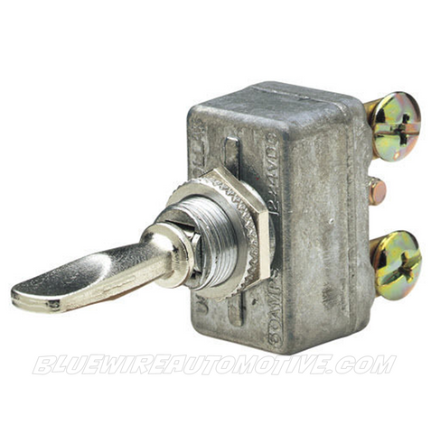 CLASSIC STEEL CHROME TOGGLE SWITCH - ON/OFF/ON