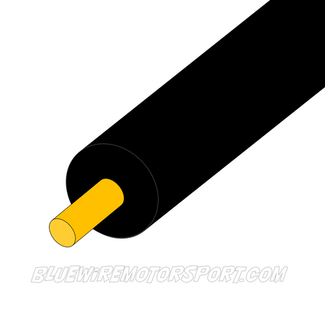 BLACK SINGLE CORE WIRE - 30mtrs - 3mm - 4mm - 5mm