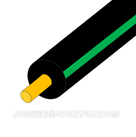 BLACK/GREEN SINGLE CORE WIRE - 30mtrs - 3mm