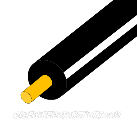 BLACK/WHITE SINGLE CORE WIRE - 30mtrs - 3mm - 4mm