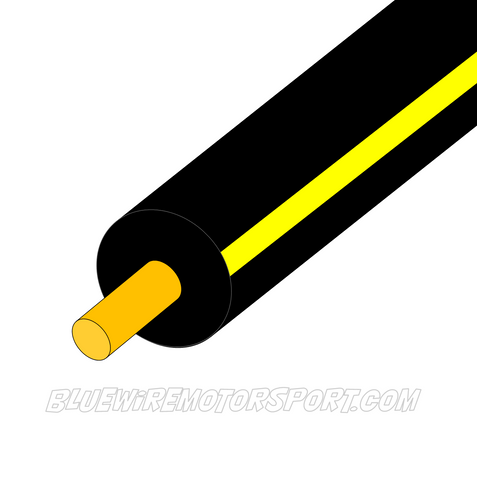 BLACK/YELLOW SINGLE CORE WIRE - 30mtrs - 3mm
