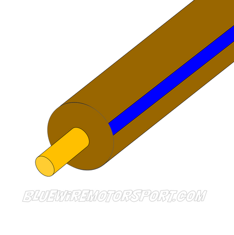 BROWN/BLUE SINGLE CORE WIRE - 30mtrs - 3mm