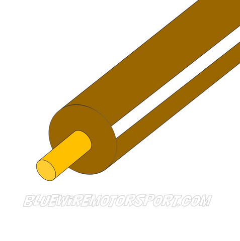 BROWN/WHITE SINGLE CORE WIRE - 30mtrs - 3mm