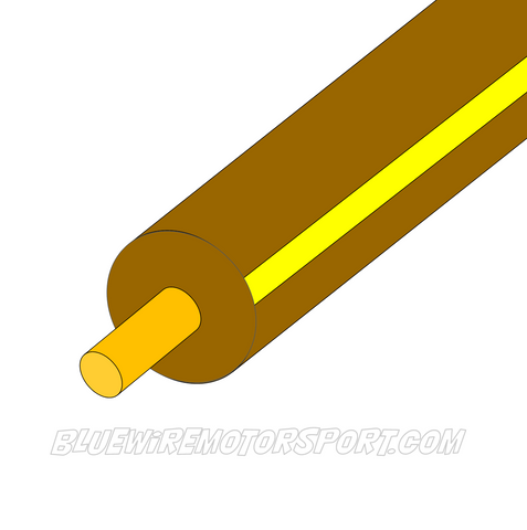 BROWN/YELLOW SINGLE CORE WIRE - 30mtrs - 3mm