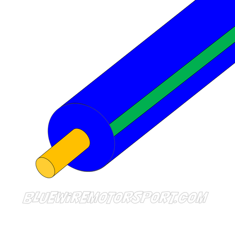 BLUE/GREEN SINGLE CORE WIRE - 30mtrs - 3mm