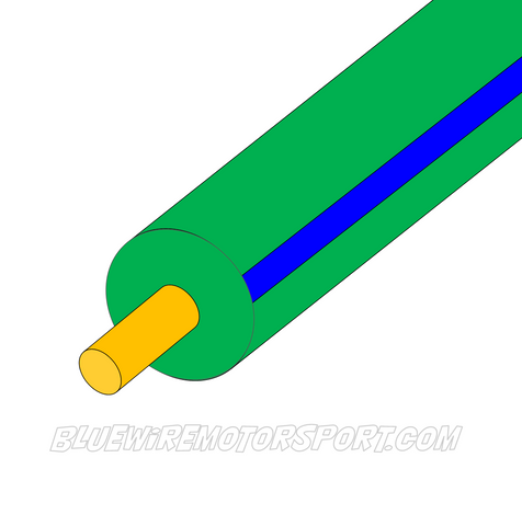 GREEN/BLUE SINGLE CORE WIRE-3mm-30mtrs