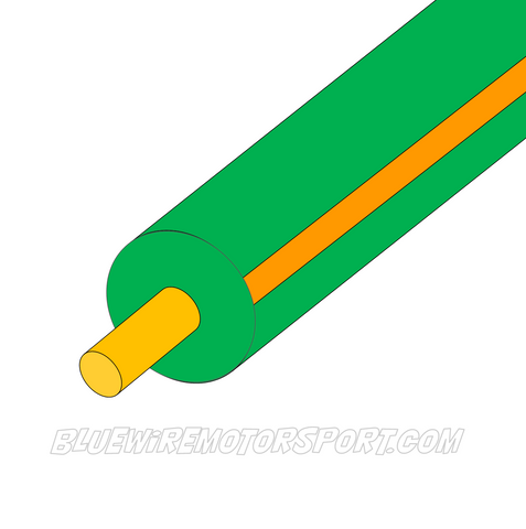 GREEN/ORANGE SINGLE CORE WIRE - 30mtrs - 3mm