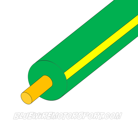 GREEN/YELLOW SINGLE CORE WIRE - 30mtrs - 3mm