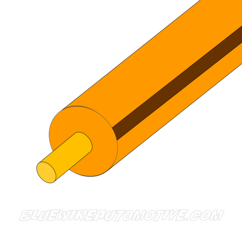 ORANGE/BROWN SINGLE CORE WIRE - 100mtrs - 3mm