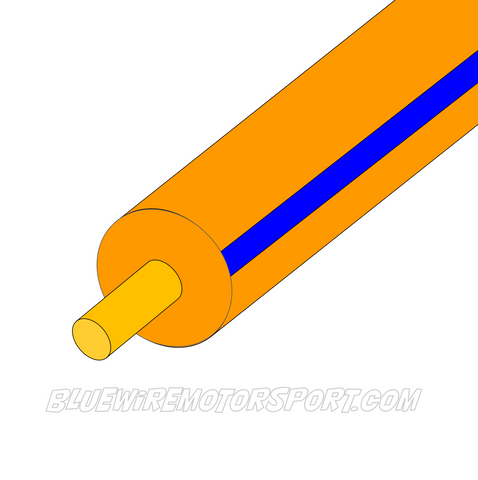 ORANGE/BLUE SINGLE CORE WIRE - 30mtrs - 3mm