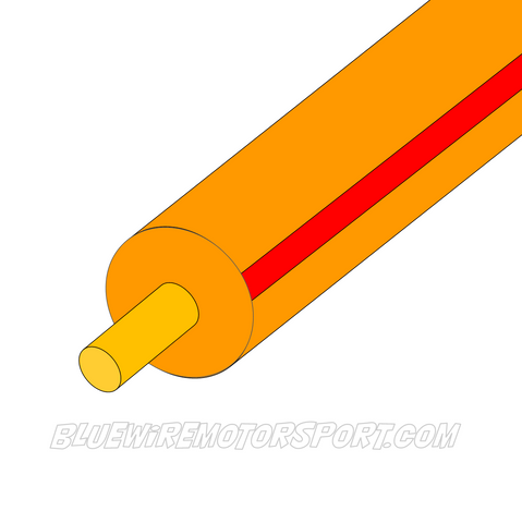 ORANGE/RED SINGLE CORE WIRE - 30mtrs - 3mm