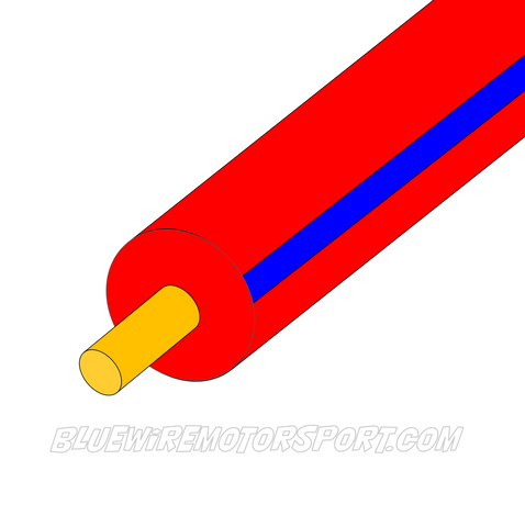 RED/BLUE SINGLE CORE WIRE - 30mtrs - 3mm