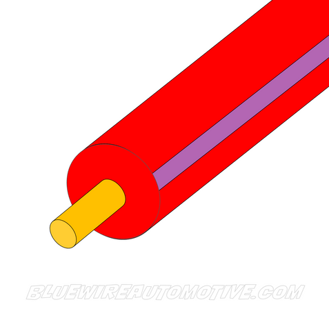 RED/VIOLET SINGLE CORE WIRE - 100mtrs - 3mm