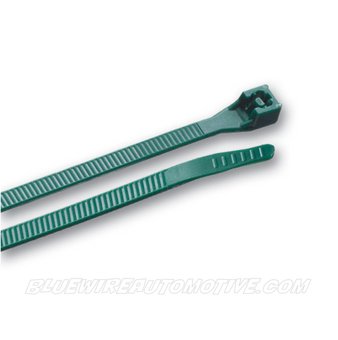 TRADE QUALITY NYLON CABLE TIES - GREEN - 100pack