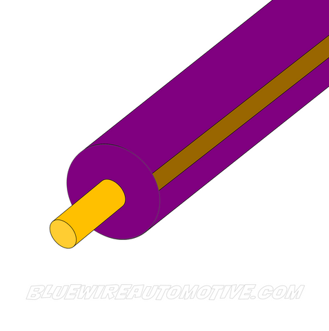 VIOLET/BROWN SINGLE CORE WIRE - 100mtrs - 3mm