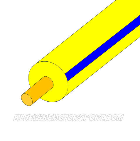 YELLOW/BLUE SINGLE CORE WIRE - 30mtrs - 3mm
