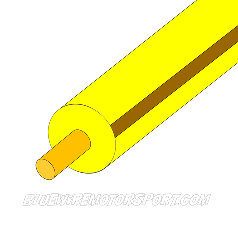 YELLOW/BROWN SINGLE CORE WIRE - 30mtrs - 3mm