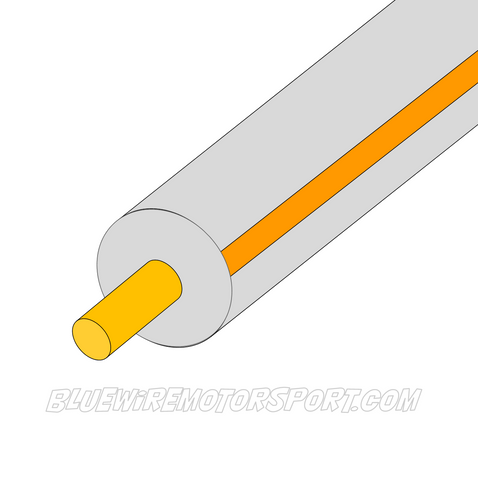 GREY/ORANGE SINGLE CORE WIRE - 30mtrs - 3mm