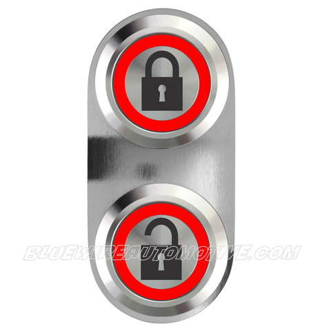 SILVER SERIES BILLET CENTRAL LOCKING SWITCH-RED