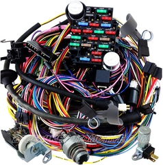 bluewire automotive wiring harnesses gm chevrolet 1957 complete wire harness non genuine gm compatible part