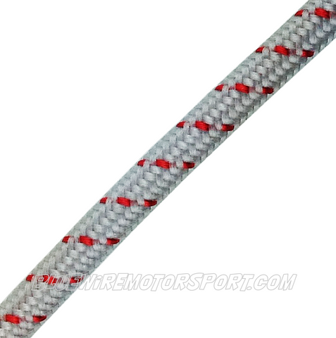 RED SINGLE CORE VINTAGE CLOTH WIRE - 2.5mtrs