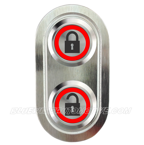 DELUXE SILVER SERIES BILLET CENTRAL LOCKING SWITCH-RED