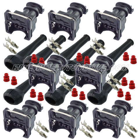8 x LS1 ENGINE EV1 FUEL INJECTOR CONNETOR PLUG - 94/02  LS1 LSX GM