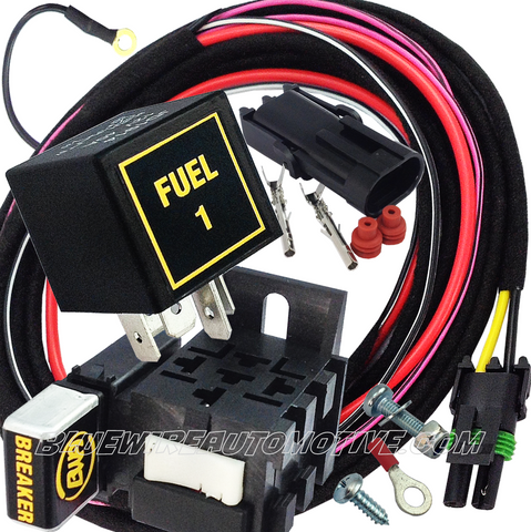 ELECTRIC FUEL PUMP 1 HEAVY DUTY RELAY SYSTEM & HARNESS-30/40amp-BWARKFL02