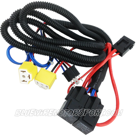 bluewire automotive headlight power booster relay wiring harness rh bluewireautomotive com headlight wire repair kit kit car headlight wiring diagram