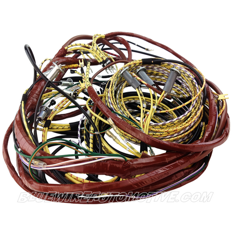 bluewire automotive wiring harnesses holden 48 fj 1948 1956 cloth wire harness non genuine gm compatible parts