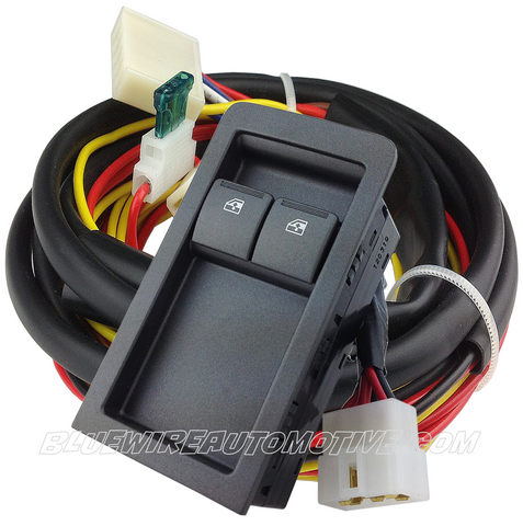 GM HOLDEN COMMODORE VY VZ UTE POWER WINDOW U-WIRE SWITCH & WIRING KIT